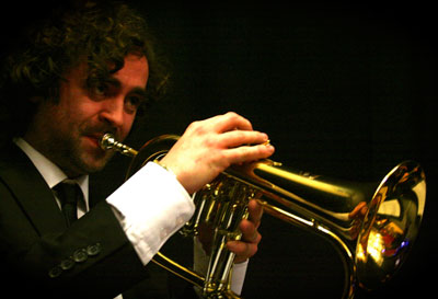 Trumpeter Jonny Bruce jazz, swing cabaret